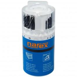 Sada vrtáků, 18-dílná, kombinovaná, Narex, 647628