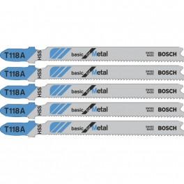 Pilový list do přímočaré pily, Basic for Metal, T 118 A, 5 ks, Bosch, T118A