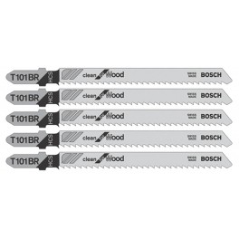 Pilový list do přímočaré pily, Clean for Wood, T 101 BR, 5 ks, Bosch, T101BR