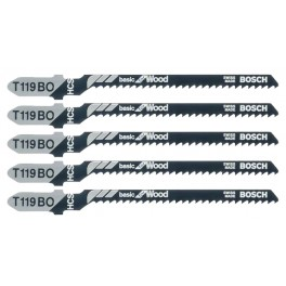 Pilový list do přímočaré pily, Basic for Wood, T 119 BO, 5 ks, Bosch, T119BO