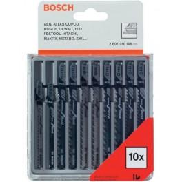 Sada pilových list do přímočaré pily, 10-dílná, dřevo, plasty, Bosch, 2.607.010.146