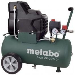 Bezolejový kompresor, 8 bar, 24 litrů, Metabo, BASIC250-24WOF