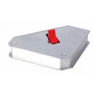 Magnet úhlový, 45° a 90°, 150 x 130 x 30 mm s vypínači, F70096