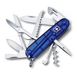 Kapesní nůž, Victorinox Huntsman, modrý transparentní, 1.3713.T2