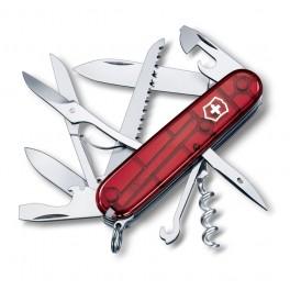 Kapesní nůž, Victorinox Huntsman, červený tranparentní, 1.3713.T