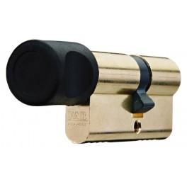 Bezpečnostní cylindrická vložka 202RSD, s knoflíkem, 3 klíče, mosaz, FAB, FAB202/29+35