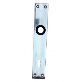 Štít dveřní, hliníkový, 72 mm, obyčejný klíč, bez kliky, K416, Komas, 003906