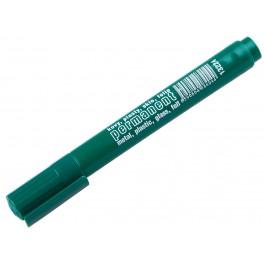 Permanentní značkovač, zelená barva, plastové pouzdro, F13224