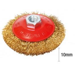 Drátěný kartáč rotační, miskový, 100 mm x M14, drát 0.3 mm, Festa, CCOP100J