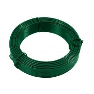 Drát vázací 1,4 mm / 50 m, zelený, PVC, Z42244
