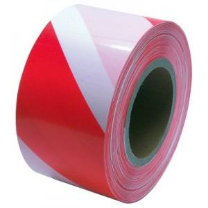 Varovací páska, 250 m, červenobílá, bez potisku, 38948