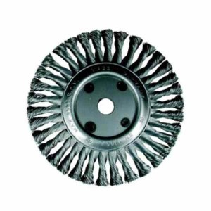 Drátěný kartáč talířový, copánkový, 125 x 22,2 mm, ocelový drát 0.50 mm, OSBORN DCOP125