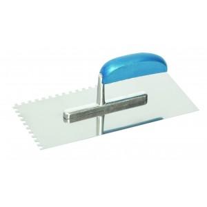 Hladítko nerezové, s hliníkovo/dřevěnou rukojetí, 280 x 130 mm, zub 8 mm, F31121