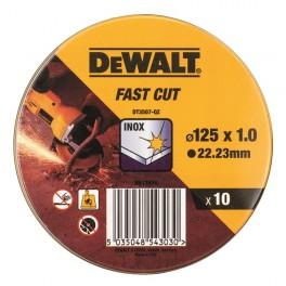 Sada kotoučů na nerez v kovové krabičce, 125 x 1,0 mm, 10 ks, DeWALT, DT3507