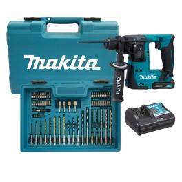 Aku vrtací kladivo, 12.0 V, 1.5 Ah, 1.0 J, SDS-Plus, CXT, příslušentví, Makita, HR140DWYE1
