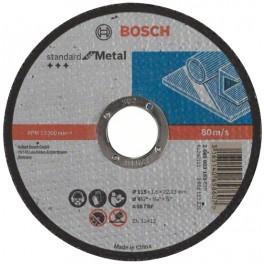 Řezný kotouč na ocel, 115 x 1.6 x 22,2 mm, rovný, Standart for Metal, Bosch, RO115/1.6B