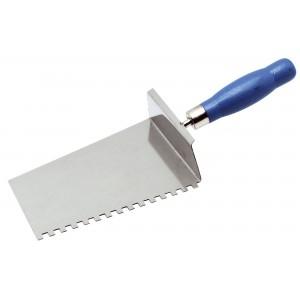 Lžíce nerezová, 180 mm, zub 6 mm, s hranou na Ytong, F31218