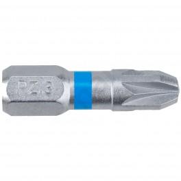 Standartní bit s drážkou Pozidrive, PZ3 x 25 mm, Blue, SUPER LOCK, 2 ks, Narex, 65404457