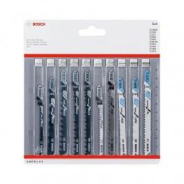 Sada listů do přímočaré pily, 10-dílná, Wood&Metal, Bosch, 2.607.011.170
