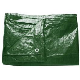 Plachta zelená, zesílená, 3 x 4 m s oky, 140 g/m2, PLS3X4