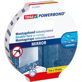 Páska na montáž zrcadel, oboustranná, 5 m x 19 mm, tesa® Powerbond MIRROR - na zrcadla, 55733-00010-04, TESA55733