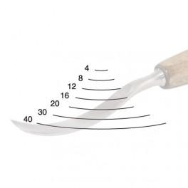 Dláto řezbářské lžícovité, profil 3, PROFI 4 mm, Narex Bystřice, B8292-04