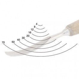 Dláto řezbářské prohnuté, profil 7, PROFI, 12 mm, Narex Bystřice, B8274-12