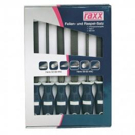 Sada rašplí a pilníků, 200 mm, 6-dílná, Raxx, 1166915