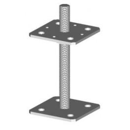 Patka dřevěného pilíře, 80 x 80 - 200 mm, M16, 14-10, Bova, PP200/16