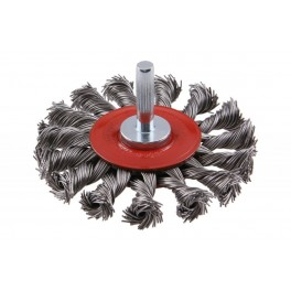 Kartáč copánkový, 75 mm, stopka 6 mm, drát 0.5 mm, Festa, CCOP75-6