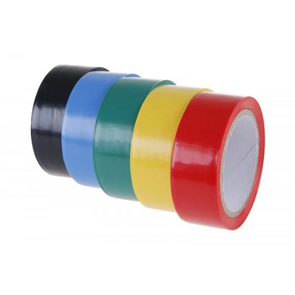 Izolační páska PVC, 0,13 x 19 mm, 5 m, 5 ks, barevné, F38931