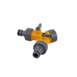 Rozdvojka s ventily pro 2 rychlospojky, Rosa, Z45134