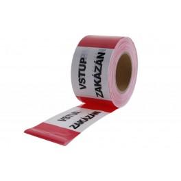 Varovná páska, 80 mm x 250 m, VSTUP ZAKÁZÁN, 38945