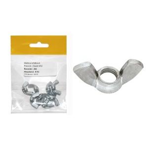 Sáček - matice křídlová, bílý zinek, 4 mm, VB150