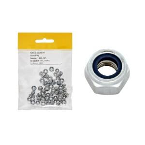 Sáček - matice pojistná, bílý zinek, 4 + 5 mm, VB241