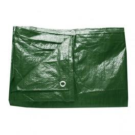 Plachta zelená, zesílená, 2 x 2 m s oky, 140 g/m2, PLS2X2