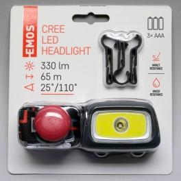 Čelovka na 3x AAA, 1x LED + 1x COB + 1x CREE XPG LED, P3531, Emos, EM-P3531