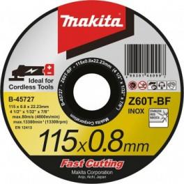 Pouze do vyprodání! Řezný kotouč na nerez, 115 x 0,8 x 22,23 mm, Makita, B-45727