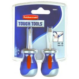 Dlaňové šroubováky, PH + Plochý, Rubbermaid Tough Tools, 10504611