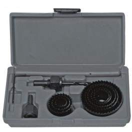 Sada vykružovacích pilek, 8-dílná, 19- 64 mm, Dedra, DED0791